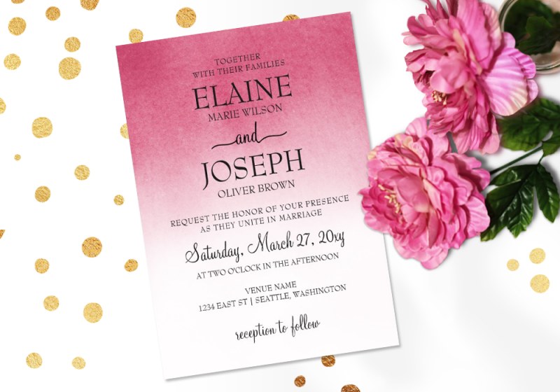 Ombre Wedding Invitation: Ombré Inspired Wedding And Event Designs