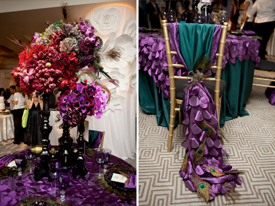plan your peacock wedding wed me pretty. Black Bedroom Furniture Sets. Home Design Ideas