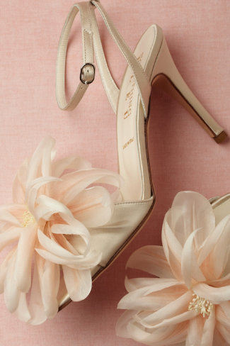 Peach Pink Wedding Shoes