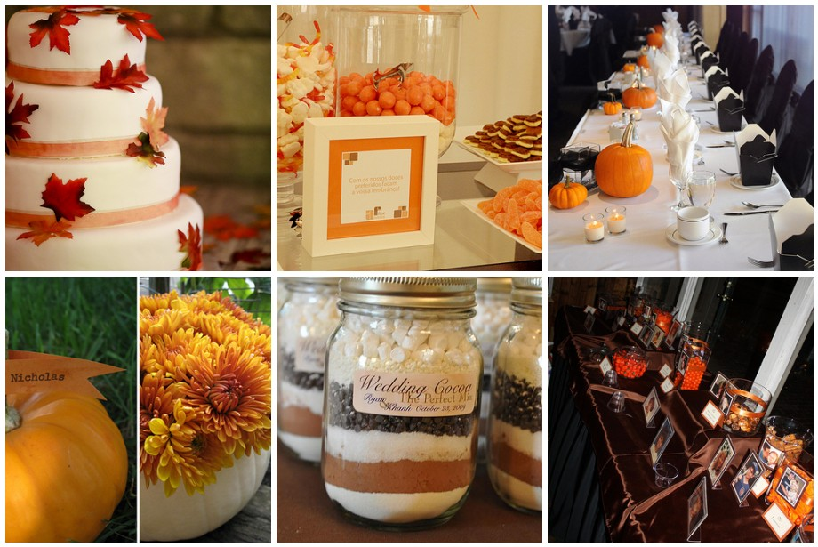 Fall ing in love with fall wedding ideas wed me pretty for Autumn wedding decoration ideas