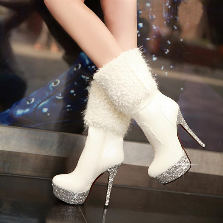 Winter Wedding Boots Bling