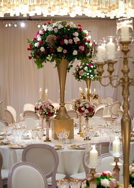 Floral Reception Table Centerpieces