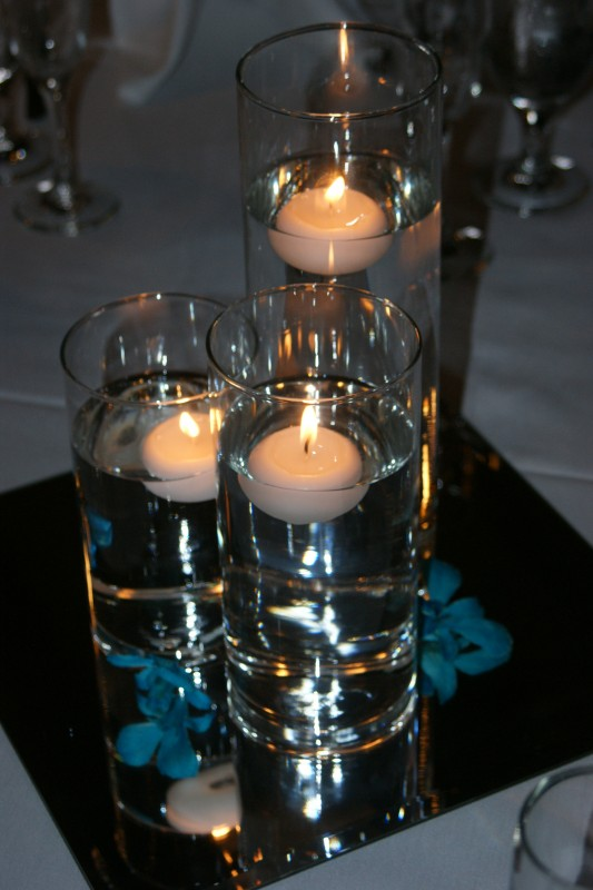 Floating Candles in a glass