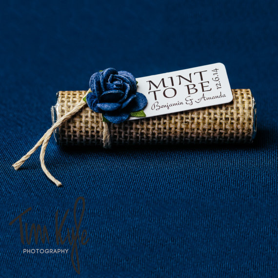Navy Rustic Wedding Favors