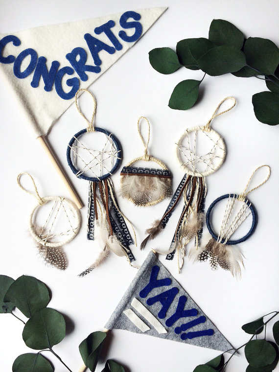 Boho Navy Dream Catcher Wedding Favors