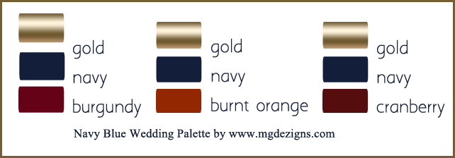 navy blue wedding color palette