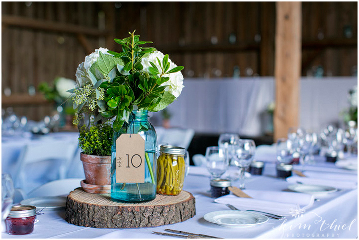Farm Wedding Centerpiece
