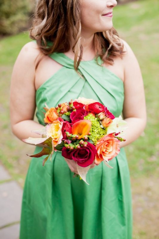 fall wedding bridesmaid