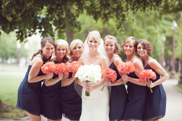 NAVY BLUE & CORAL WEDDING