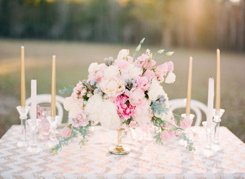 blush and gold spring wedding inspiration