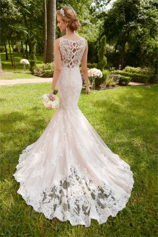 stella york blush wedding dress