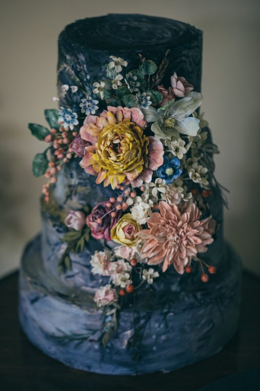 Amy Swann's Floral Wedding Cake