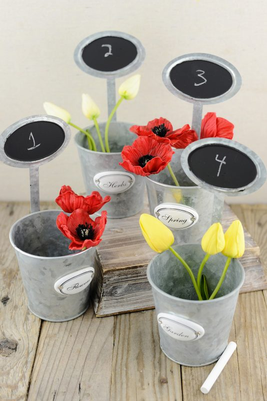 Table Number Garden Planters