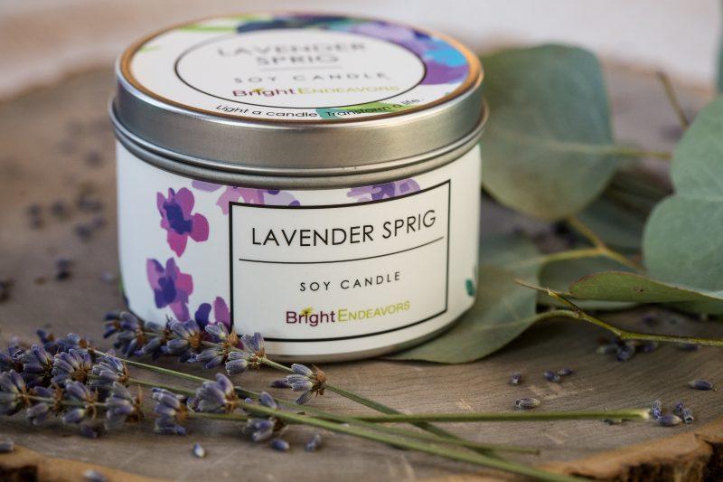 Lavender Sprig Candle